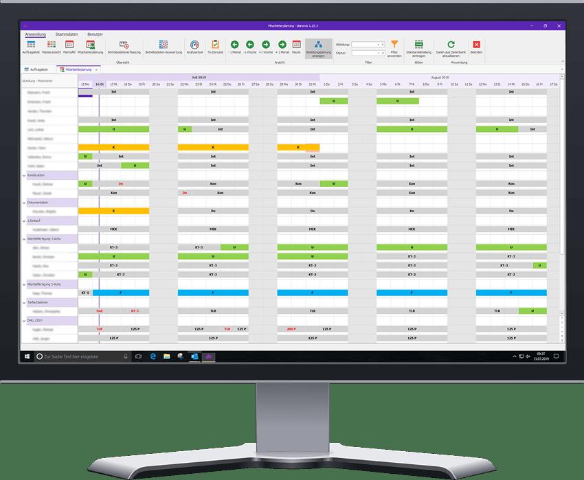planovis Planungssystem Personaleinsatzplanung PC